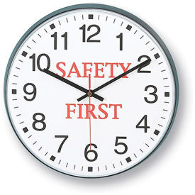"""INFINITY/ITC Message Clock - 12"""" Diameter - Safety First"""