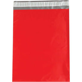"2.5 Mil Colored Poly Mailers, 14-1/2x19"", Red, 100 Pack"