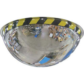 """Acrylic Full Dome Mirror with Safety Border, 36"""" Diameter"""