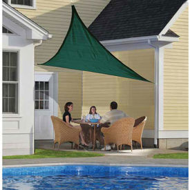 ShelterLogic ShadeLogic Sun Shade Sail Heavy Weight Triangle 12 ft. x 12 ft. Evergreen