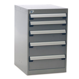 "Five-Drawer Pedestal For Modular Mobile Cabinets - 3"",4"",5"",6"" Front Drawer Heights"