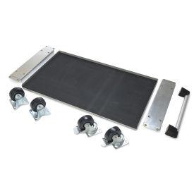 Mobile Cabinet Base Kit - For Two Pedestals - Hardwood Top