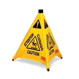 """Rubbermaid Pop-Up Safety Cone, Caution, 20"""""""