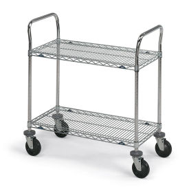 """Metro Stainless Steel Wire Utility Carts, 72""""W x 24""""D x 39""""H"""