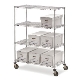 "Metro Super Erecta Trucks with Wire Shelves, 48""W x 18""D x 68""H"