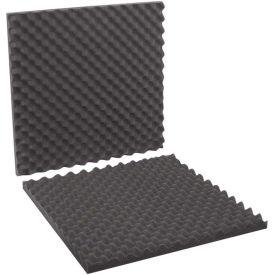 "24""x24""x2"" Charcoal Convoluted Foam Sets, 6 Pack"