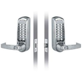 Codelocks ANSI Grade 2 Mechanical Lockset, CL615BB-BS, EZ Code Change, Brushed Steel
