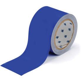 """Brady ToughStripe Floor Marking Tape, Polyester, 2""""W X 100'L, Blue, 104314"""