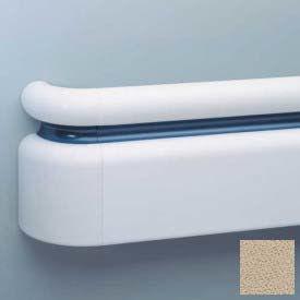 "3-Piece Handrail System, Vinyl w/Aluminum Retainer, 6.25"" Face 12' Long, Tan"