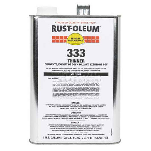 Rust-Oleum Thinner, Exempt Solvent, Gallon Can, Lot Of 2