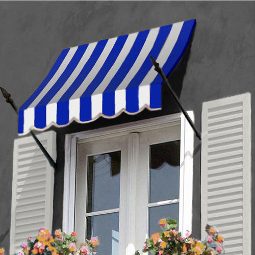 Awntech Spear Arm Awning 4-3/8'W x 3-11/16'H x 2'D Bright ...
